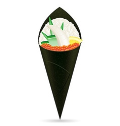 sushi hand rolls 02 vector image vector image