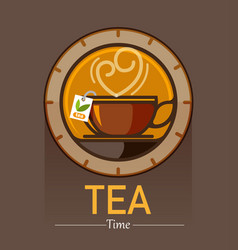 Tea time lover vector