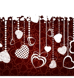 valentine background with copy space eps 8 vector image vector image