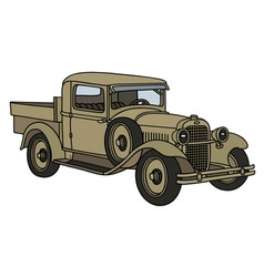Vintage military truck vector image vector image