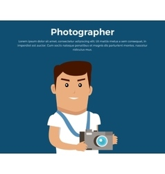 Photographer concept banner vector