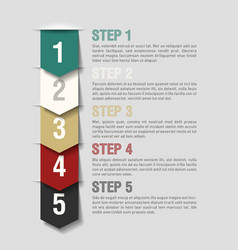 Arrows steps design template vector