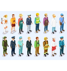 Person isometric collection vector