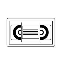 vhs tape icon vector image