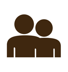 silhouette pictogram people icon flat vector image