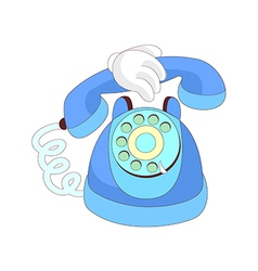 A view of telephone vector image