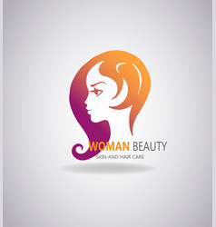 girls portrait with long hair vector image