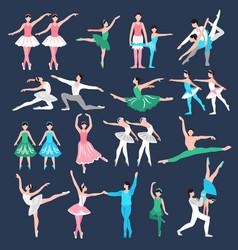 Ballet dancers set vector