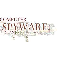 Free spyware scan text background word cloud vector