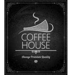 chalkboard coffee vector image