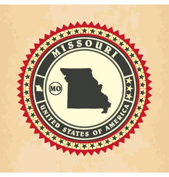 Vintage label-sticker cards of missouri vector
