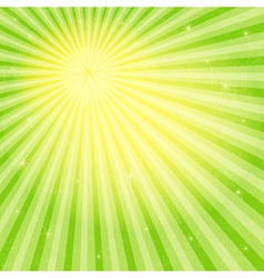 Spring gold-green frame vector