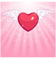 Love heart background vector