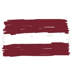 Flag of latvia handmade vector