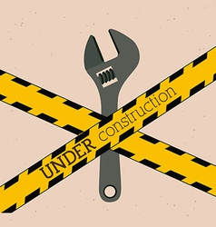 Under construction design vector