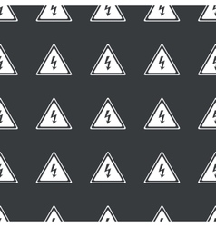 Straight black high voltage pattern vector