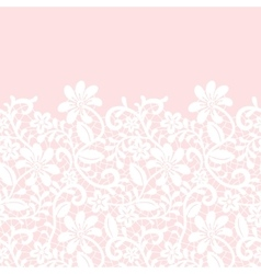 lace border isolated on pink background vector image