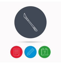 Scalpel icon surgeon tool sign vector