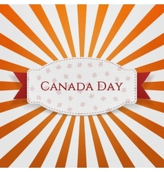 Canada Day Holiday Badge with Text and Ribbon vector image