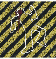 Murder crime scene abstract vector