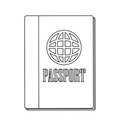Passport with earth diagram icon vector