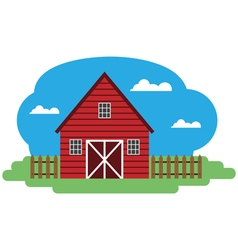 Farm building vector