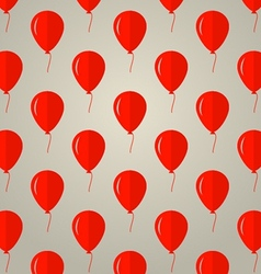 background for red balloons vector image vector image