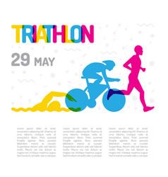 Banner sport triathlon vector