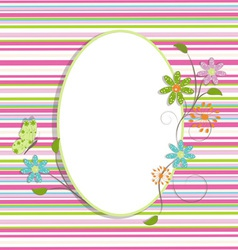 beautiful greeting background vector image