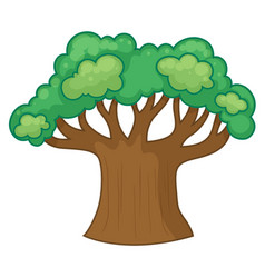 Big tree with many branches vector