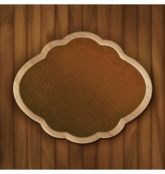 Board frame on wood wall vector