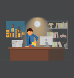 businessman on coffee break business office vector image