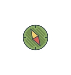 Camping vintage compass icon design Use vector image