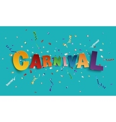 Colorful handmade font type carnival vector