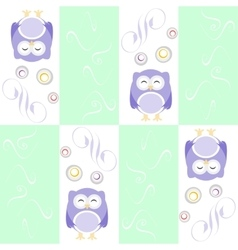 Cute owl seamless background background vector