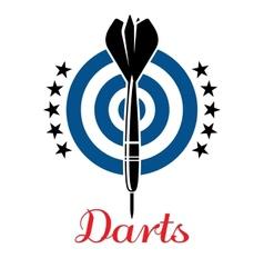 Darts emblem or logo vector image vector image