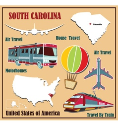 Flat map of south carolina vector