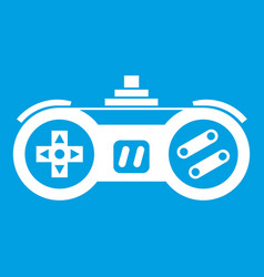 Gamepad icon white vector