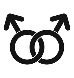 Gay love sign icon simple style vector
