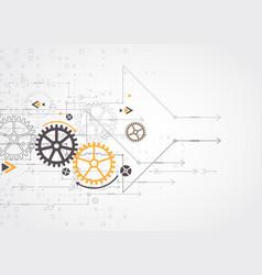 Gear wheel digital technology concept vector