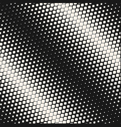 Geometric halftone seamless diagonal pattern vector
