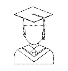 graduated man icon vector image vector image