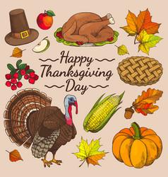 Happy thanksgiving day promo vector