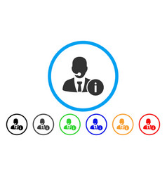 help desk manager rounded icon vector image vector image