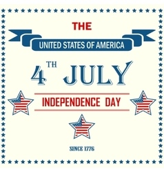 Independence day background vector image