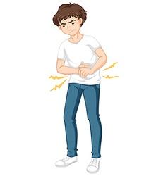 Man having serious stomachache vector