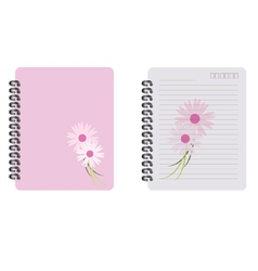 Notebook fower vector