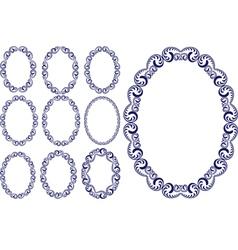 oval frames vector image