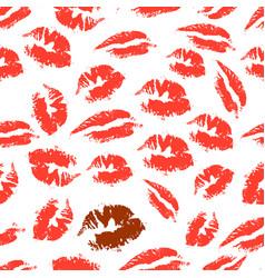 Print of lipstick vector