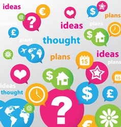 thought ideas plans vector image vector image